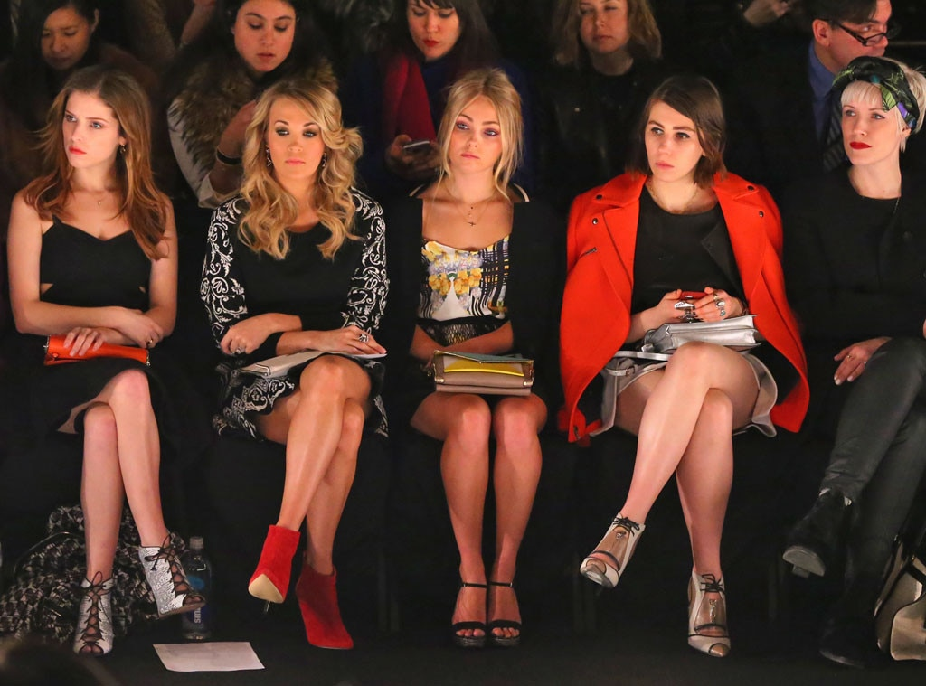 NYFW, Front Row, Anna Kendrick, Carrie Underwood, AnnaSophia Robb, Zosia Mamet