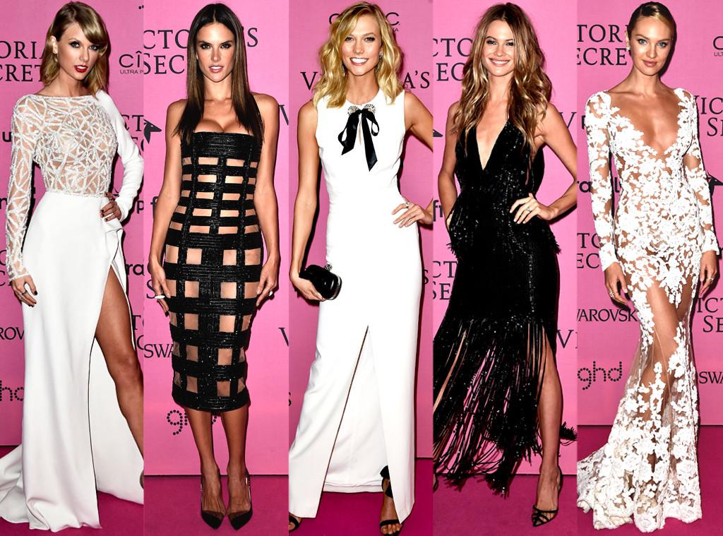 Tops usam looks sensuais no pós-festa da Victoria's Secret Fashion Show