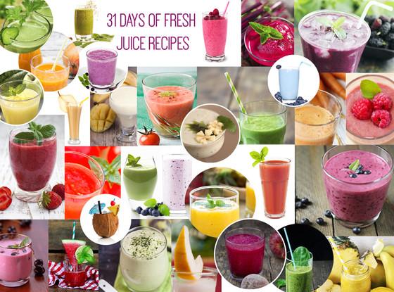 31 Days of Fresh Juice Recipes, Smoothies