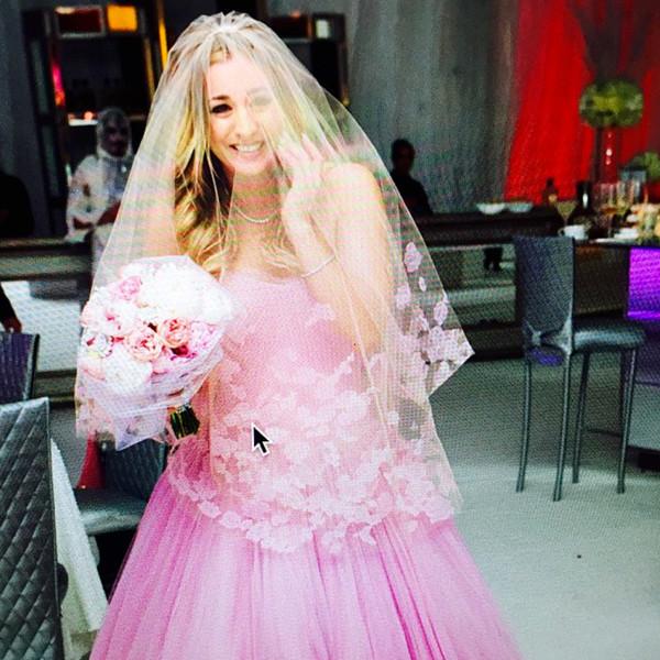 Kaley Cuoco Sweeting, Wedding Dress, Instagram
