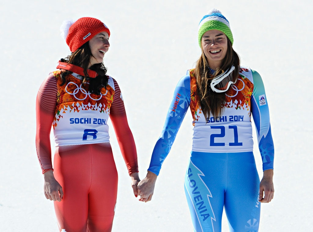 Dominique Gisin, Tina Maze, Sochi Winter Olympics