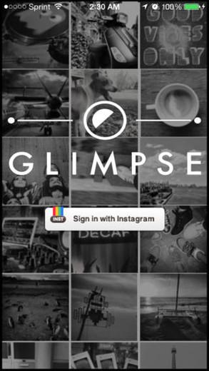 Aplicativo Glimpse