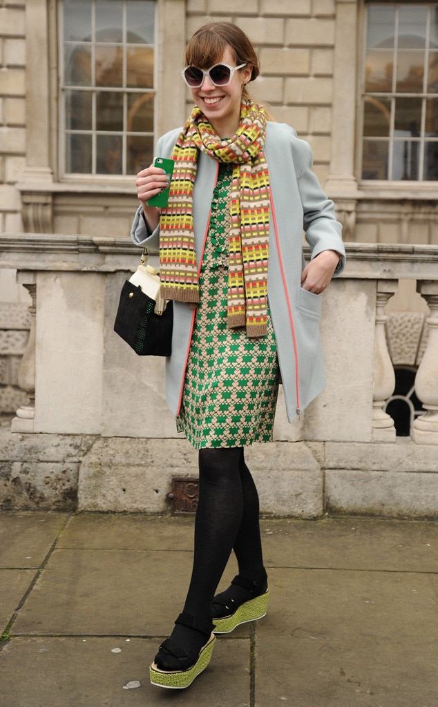 Get Happy From London Fashion Week Fall 2014 Street Style E News