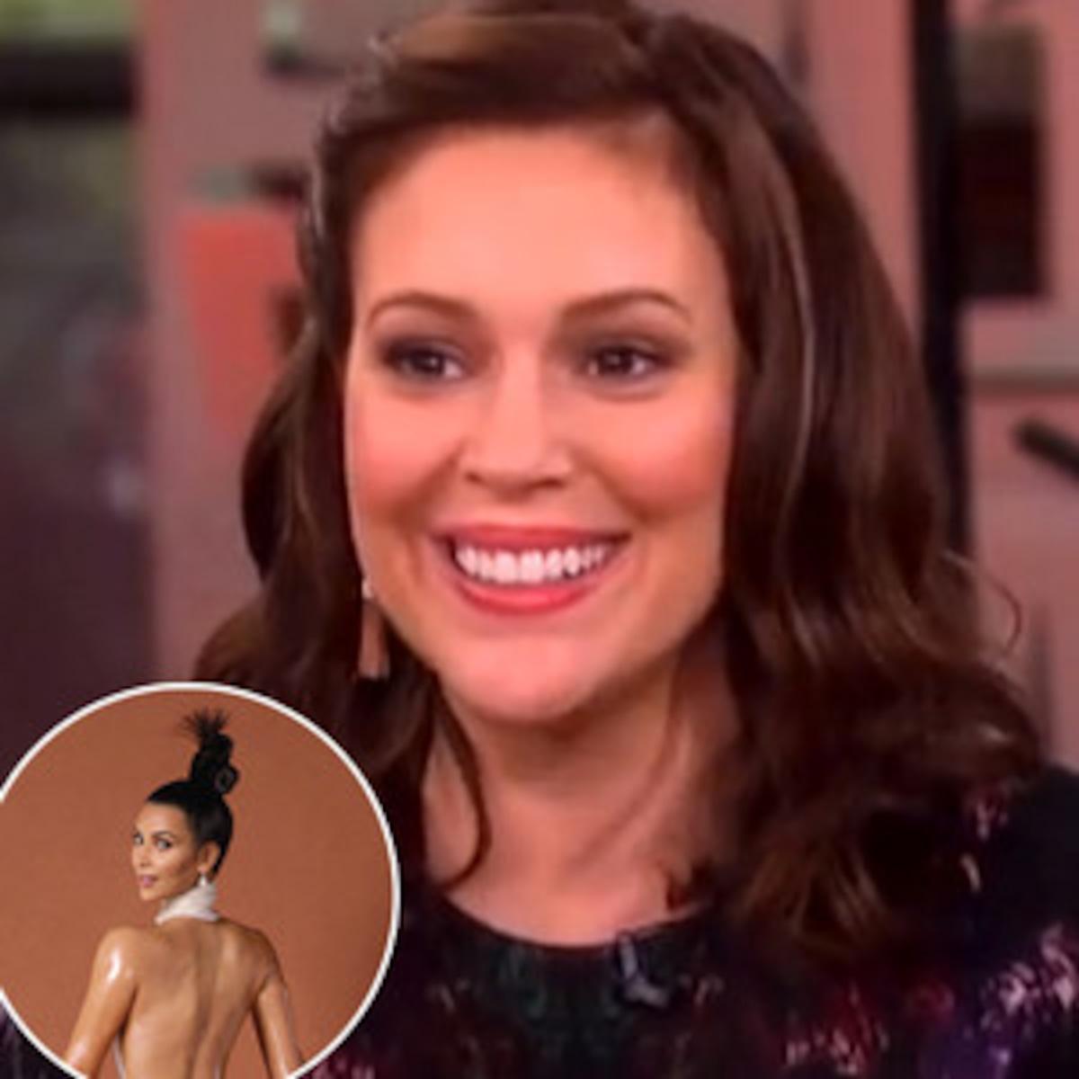 Alyssa Milano Charmed Naked alyssa milano defends breastfeeding pic, cites kim k.'s butt