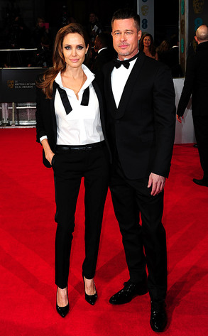 Angelina Jolie and Brad Pitt, BAFTA Film Awards 2014