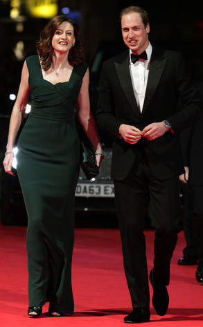 Duke of Cambridge, Prince William, Amanda Berry, BAFTA Film Awards 2014
