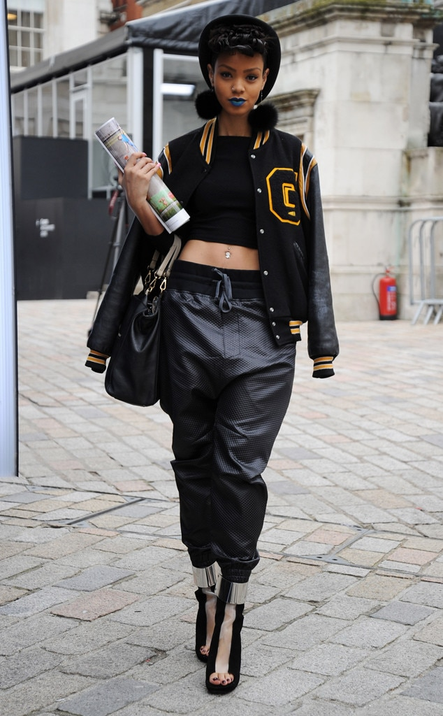 Varsity Blues From London Fashion Week Fall 2014 Street Style E News