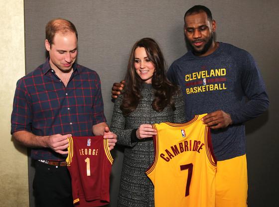 Prince William, Kate Middleton, LeBron James