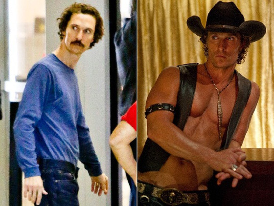 Matthew McConaughey magro, antes e depois