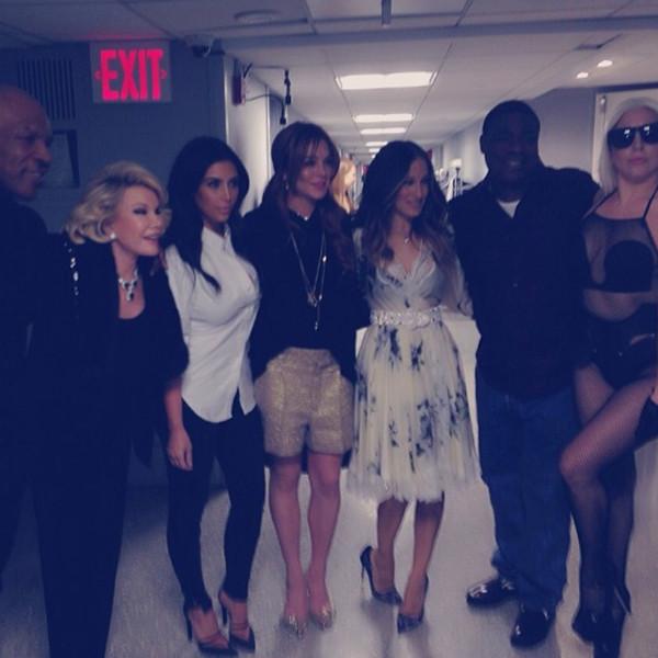 Mike Tyson, Joan Rivers, Kim Kardashian, Lindsay Lohan, Sarah Jessica Parker, Tracy Morgan, Lady Gaga