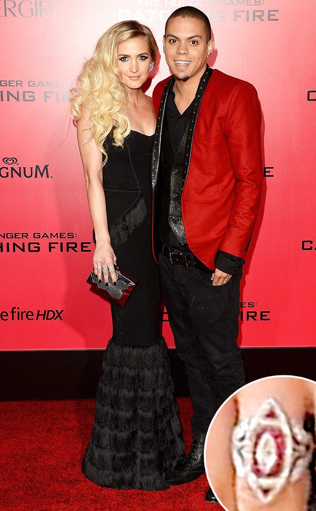 Ashlee Simpson, Evan Ross, Engagement Ring