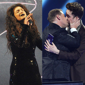 Lorde, Nick Grimshaw, James Corden, Bruno Mars Brit Awards