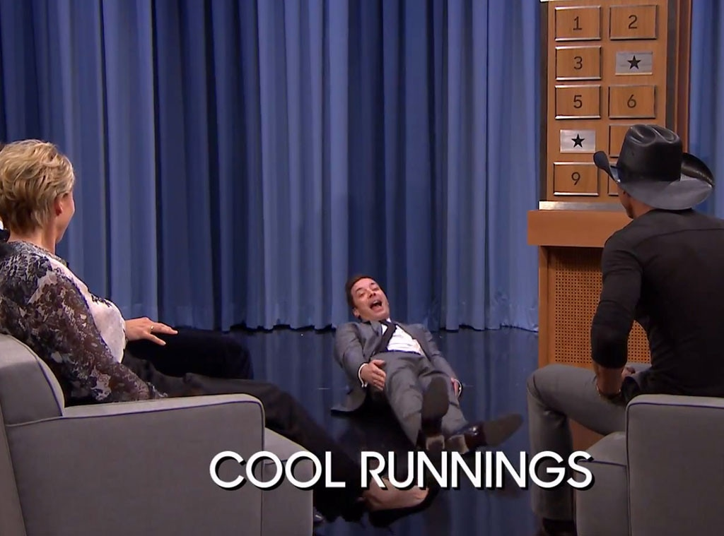 Bradley Cooper Emma Thompson Tim Mcgraw Jimmy Fallon Play Charades E Online Au