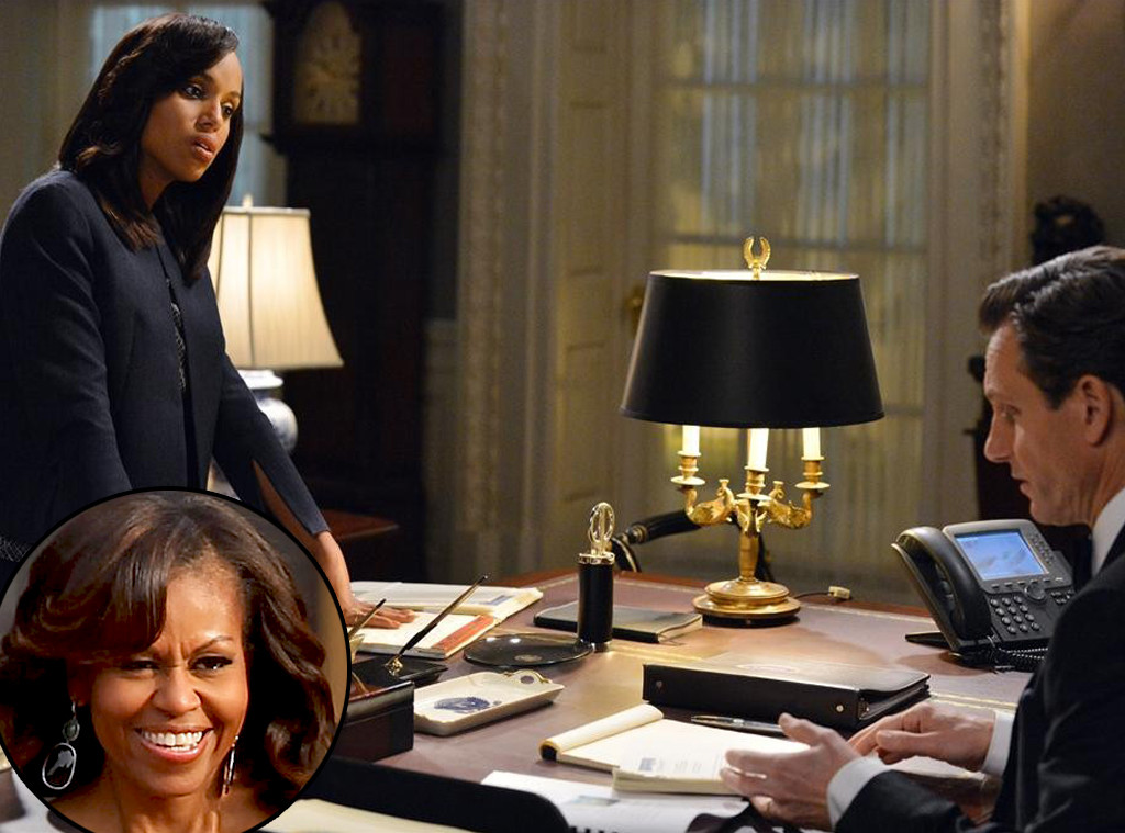 Michelle Obama, Kerry Washington, Scandal, Favorite TV Shows