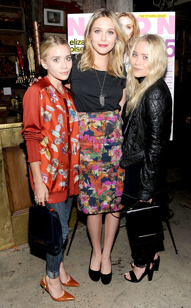 Mary-Kate, Ashley, and Elizabeth Olsen | All in the Family ... |Elizabeth Olsen And Sisters 2014