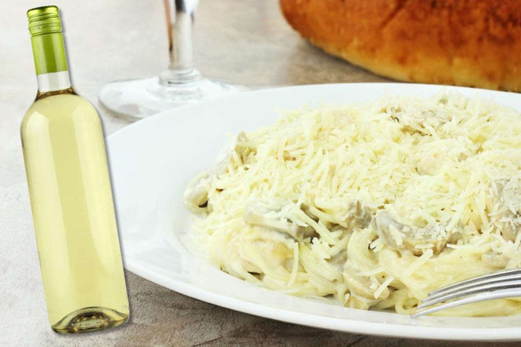 Italian Food and Wine Pairings, Chicken Tetrazzini, Chardonnay