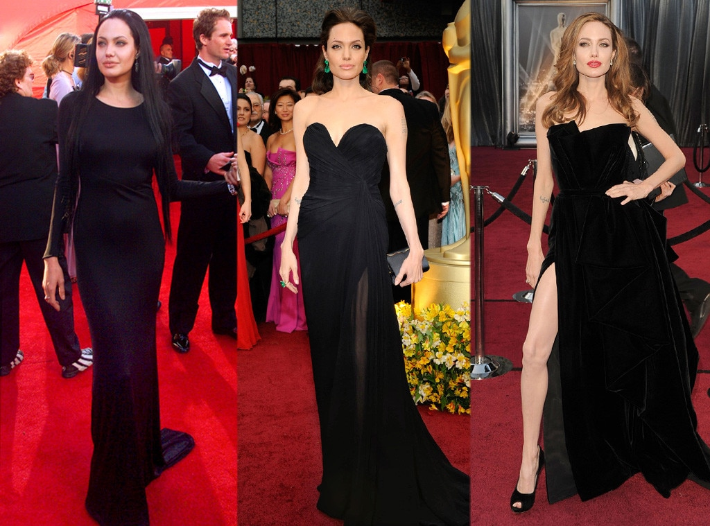 Angelina Jolie from Oscar Gowns Through the Years | E! News