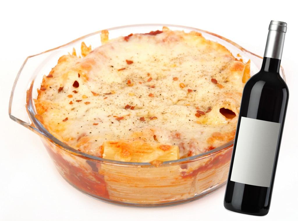 Italian Food and Wine Pairings, Three Cheese Baked Pasta, Chianti Classico