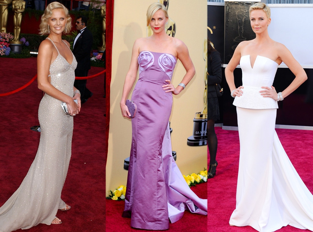 Charlize Theron from Oscar Gowns Through the Years | E! News