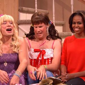 Jimmy Fallon, Will Ferrell, Michelle Obama