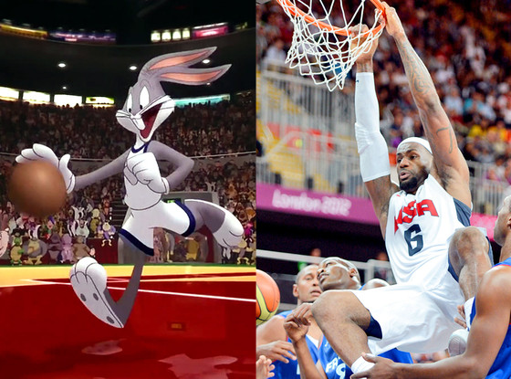 LeBron James, Space Jam, Bugs Bunny