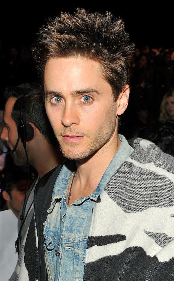 jared leto new hair style spiky hair from jared leto s hair e news 9270