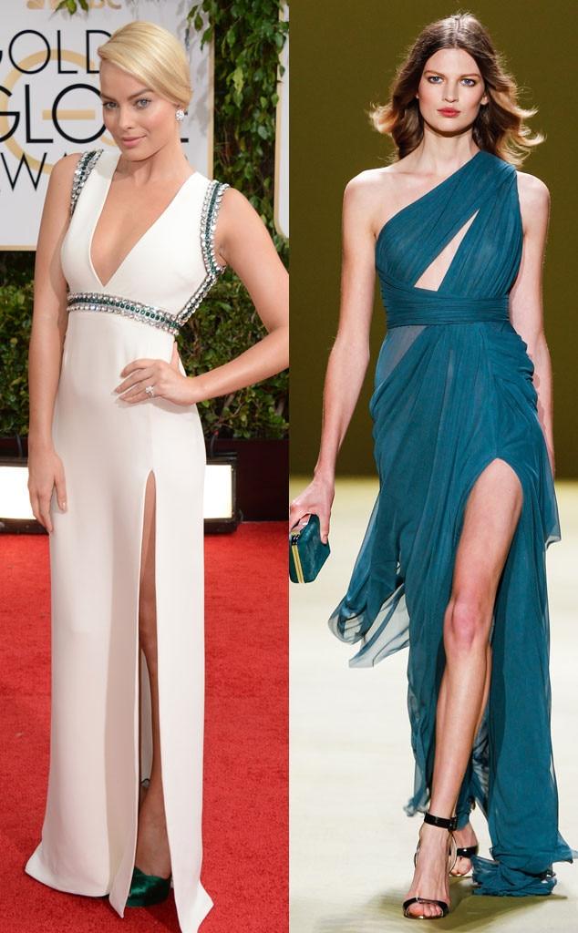 Margot Robbie, Golden Globes, J. Mendel Model, Oscar Gown Predictions