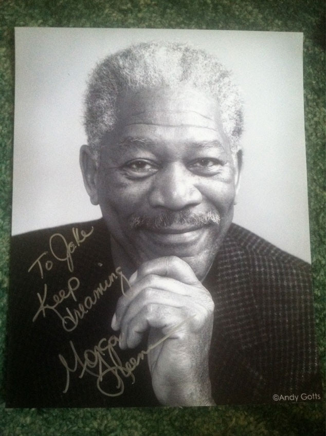 Morgan Freeman Fake Autograph