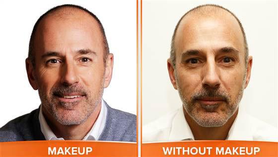 Matt Lauer, No Makeup