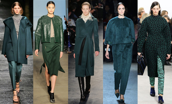 Zanna's NYFW Trends, The Color: Green With Envy