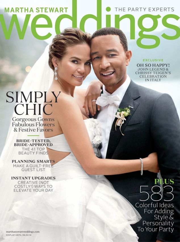 John Legend, Chrissy Teigen, Martha Stewart Weddings Magazine