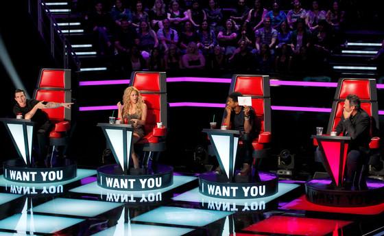 THE VOICE, Adam Levine, Shakira, Usher, Blake Shelton