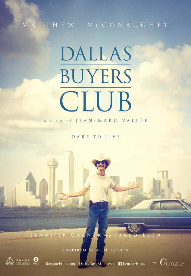 Dallas Buyer's Club, Matthew McConaughey, Movie Poster