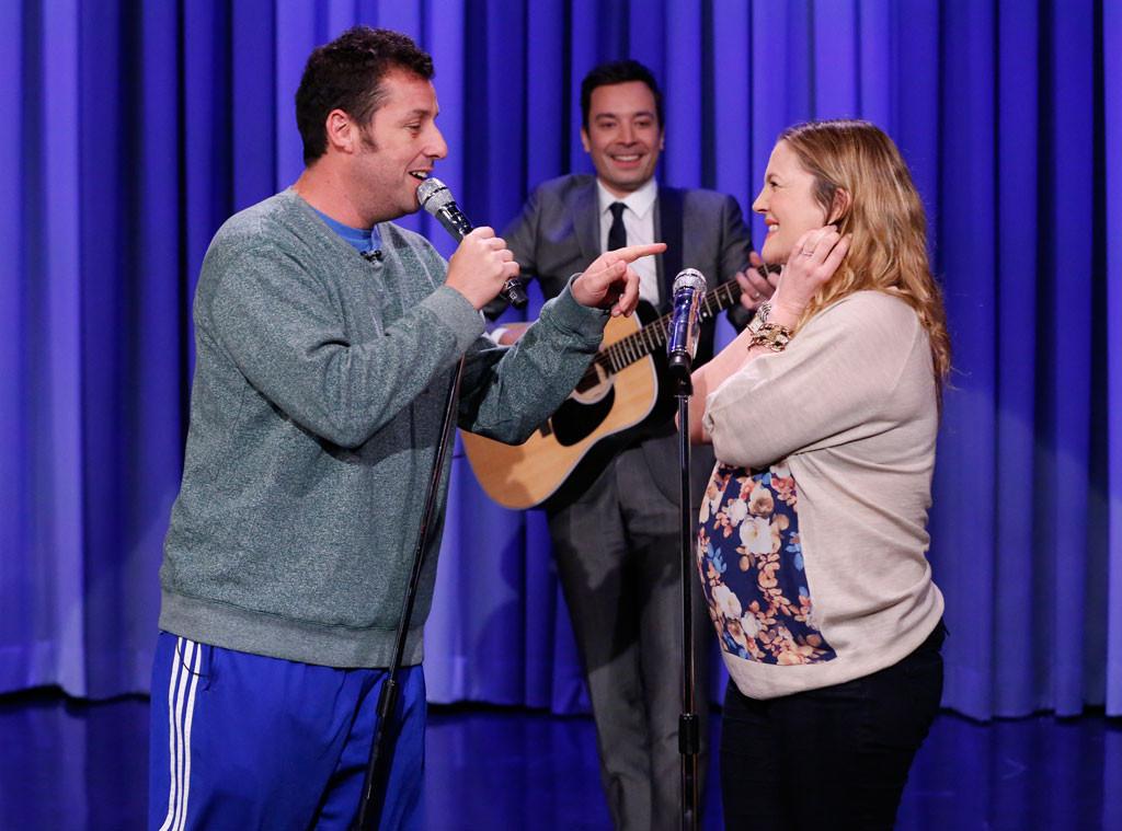 Drew Barrymore, Adam Sandler, Jimmy Fallon, Tonight Show