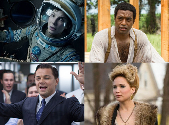 Oscar Movies, Gravity, American Hustle, Wolf of Wall Street, 12 Years a Slave