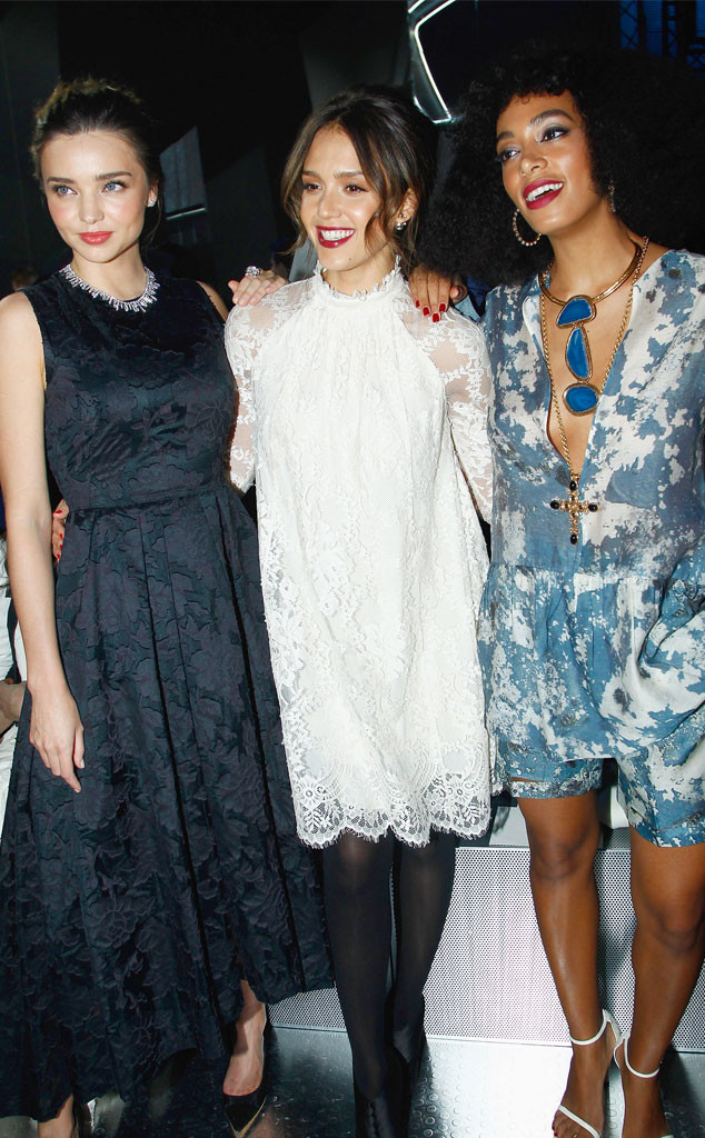Miranda Kerr, Jessica Alba, Solange Knowles
