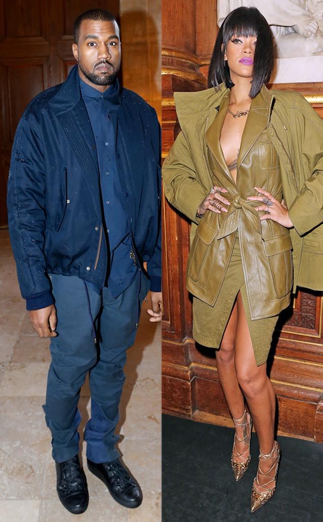 Kanye West, Rihanna, Paris Fashion Week