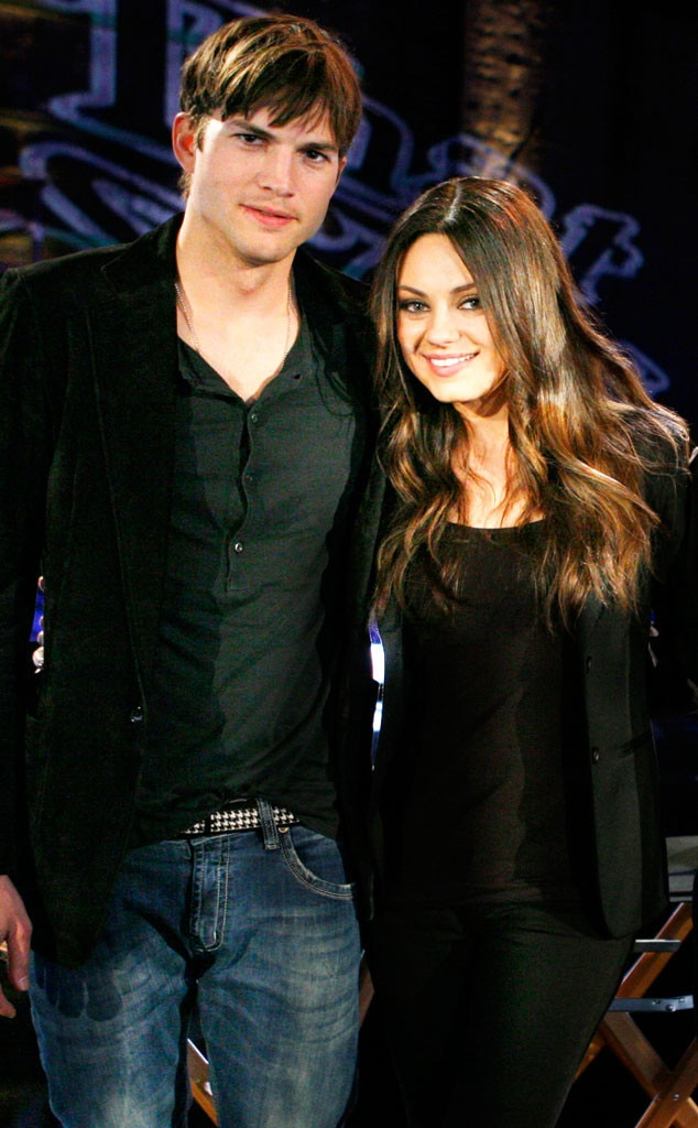 Ashton and mila divorced dating
