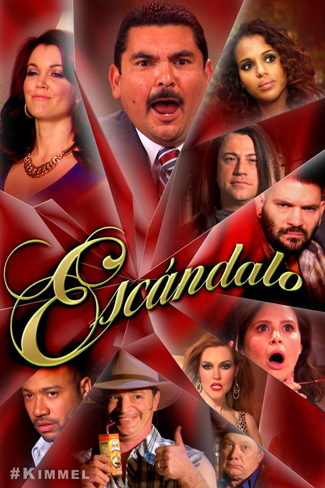 Kerry Washington, Jimmy Kimmel, Scandal, Scandalo