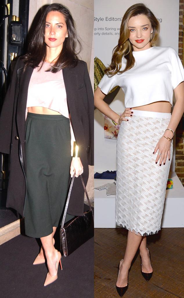 Fashion Face-Off: Olivia Munn vs  Miranda Kerr in Hot Crop