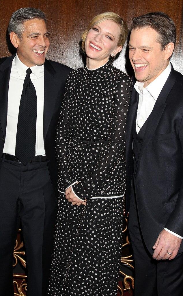 George Clooney, Cate Blanchett, Matt Damon
