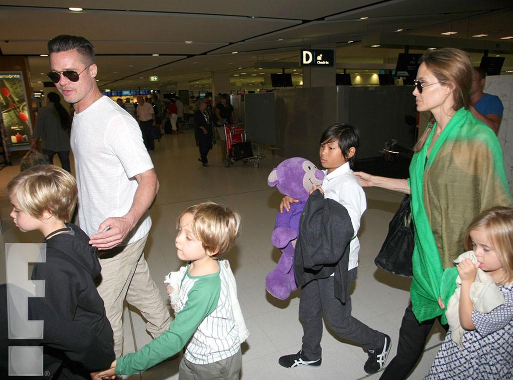 Brad Pitt, Angelina Jolie, Maddox, Pax, Shiloh, Vivienne, Knox, Exclusive