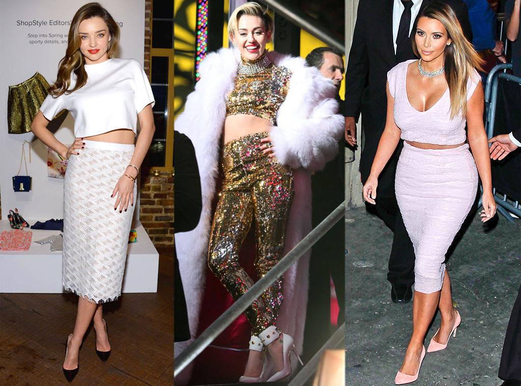 Miley Cyrus, Kim Kardashian, Miranda Kerr, Cropped Tops