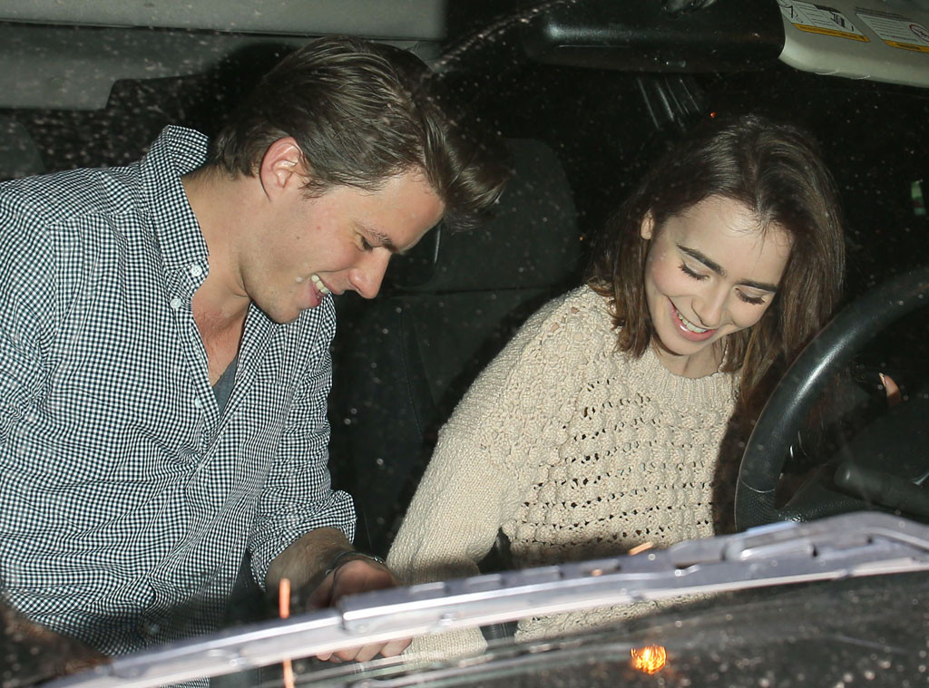 Lily Collins Steps Out With Rumored Boyfriend Thomas ...