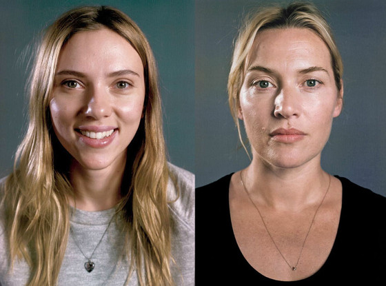 Scarlett Johansson, Kate Winslet, Vanity Fair, No Makeup