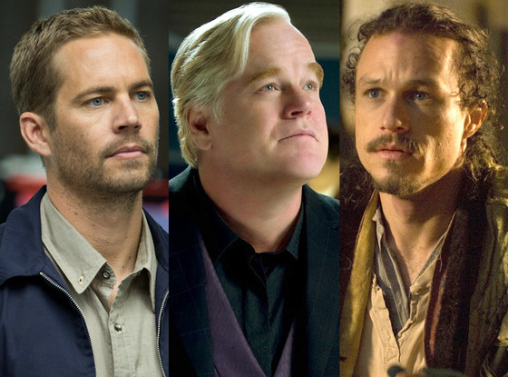 Paul Walker, Fast and the Furious, Philip Seymour Hoffman, Hunger Games, Heath Ledger, The Imaginarium of Doctor Parnassus