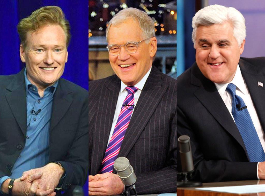 Conan O'Brian, David Letterman, Jay Leno