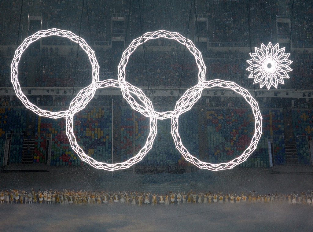 Olympic Ring Malfunction, Snowflake, Sochi Opening Ceremony