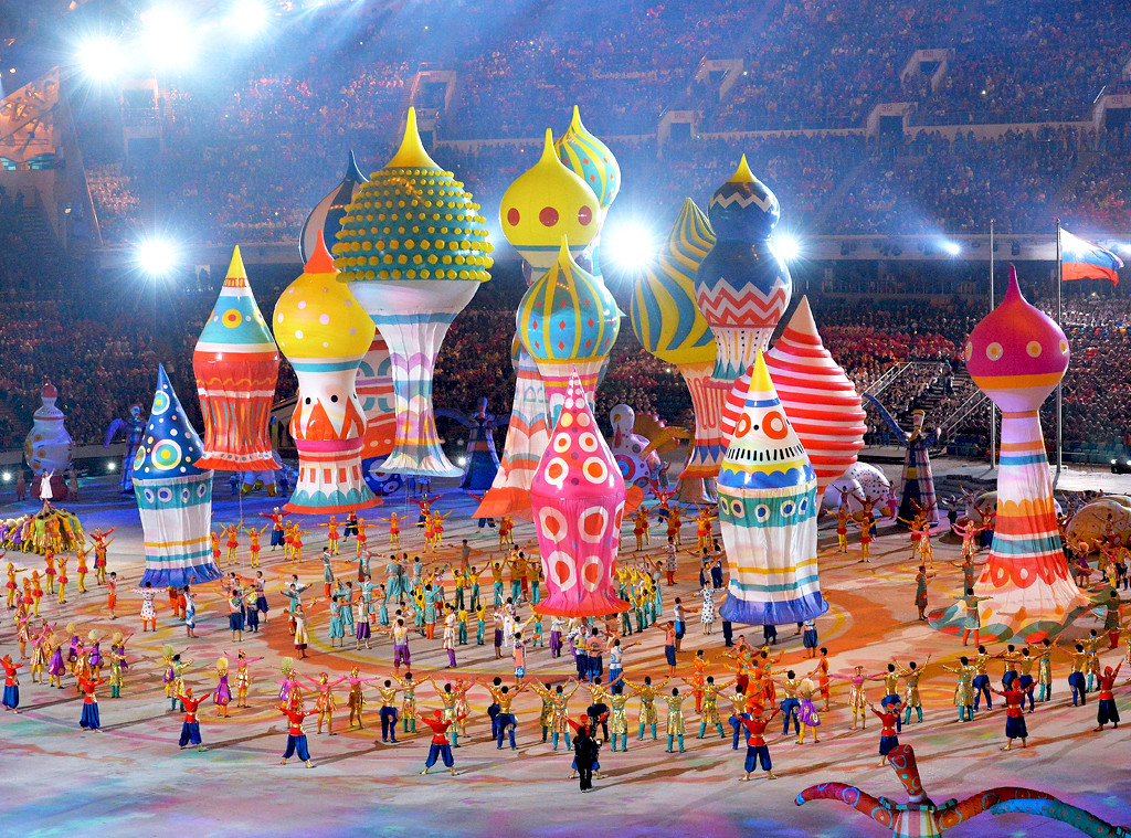 Inflatable Objects, Opening Ceremony, Olympics, Sochi