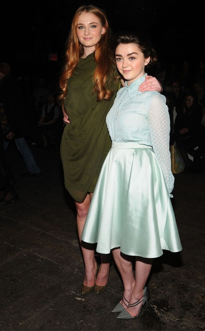 Sophie Turner, Maisie Williams, NYFW